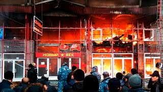 """На рынке """"Барабашово"""" произошел крупный пожар"""