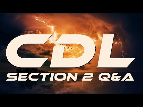 2019 CDL Manual Section 2 Driving Safely Questions & Answers Part 1 of 2 +++ 20191007