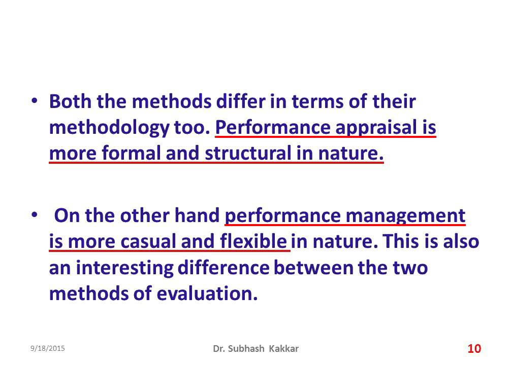 Difference Between Performance Management And Performance Appraisal