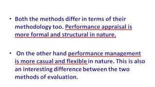 This video is part of series lectures on the subject performance management. in difference between management and appra...