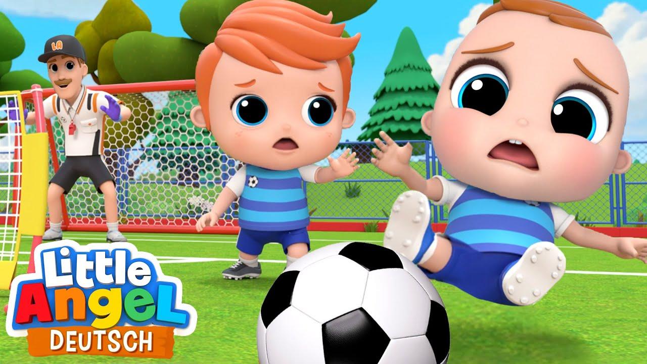 Ich spiele gerne Fußball | Das Fußball-Lied | Little Angel Deutsch