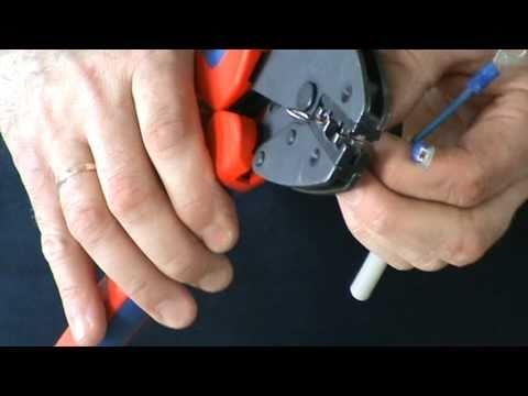 Обжим кабельных наконечников инструментом KNIPEX