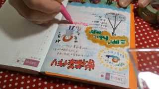 ほぼ日手帳を録画しながら書いてみたPart2  japan drowing diarymovie