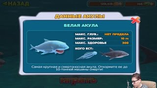 Прохождение HUNGRY SHARK EVOLUTION 5 - БЕЛАЯ АКУЛА [Great White Shark]