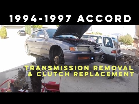 How to Remove Transmission 1994-1997 Honda Accord plus Clutch Replacement