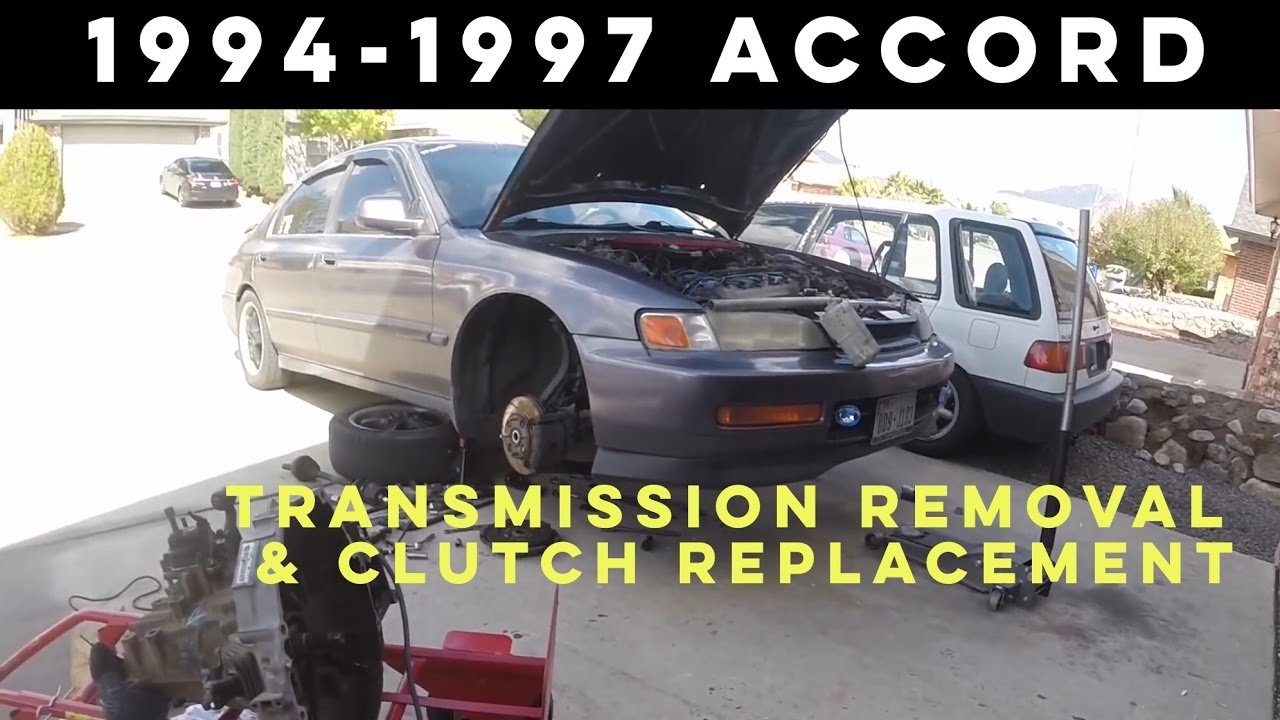 95 honda accord engine diagram human heart posterior how to remove transmission 1994 1997 plus clutch replacement