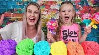 Learning Colors Opening Cotton Candy Cuties Surprise Toys!!