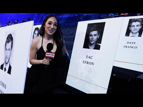 2015 MTV Movie Awards Seating Chart Behind The Scenes - Zac Efron, Cara Delevingne