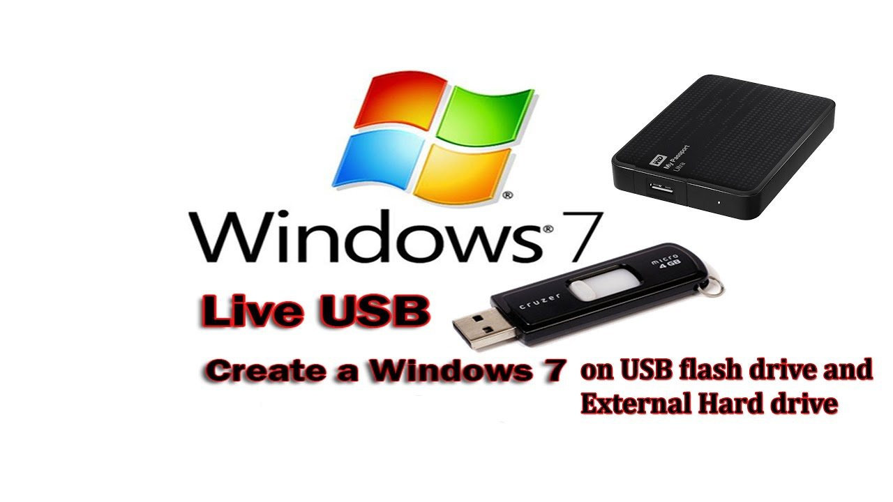 How to install an operating system ( windows 7 ) on USB flash and external  hard drive-step by step
