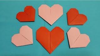 Gấp giấy Origami - Cách xếp trái tim bằng giấy dùng trang trí - Kênh Giải Trí