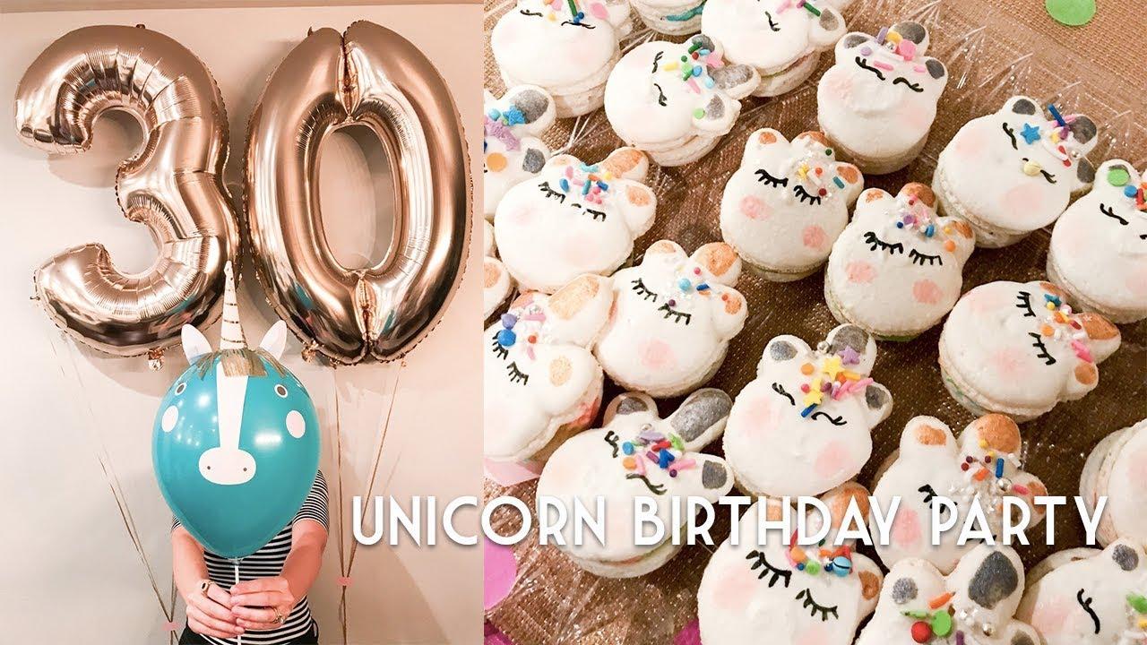 30th Birthday SURPRISE UNICORN BIRTHDAY PARTY