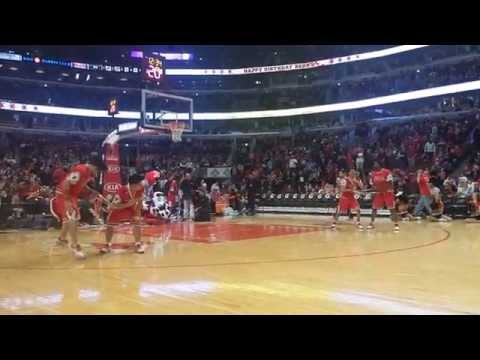 Benny The Bull's Birthday Bash Halftime Mascot Show