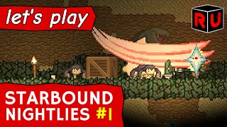 Starbound 1.0 preview: Poptop Dungeon Boss! | Let's play Starbound nightly builds ep 1