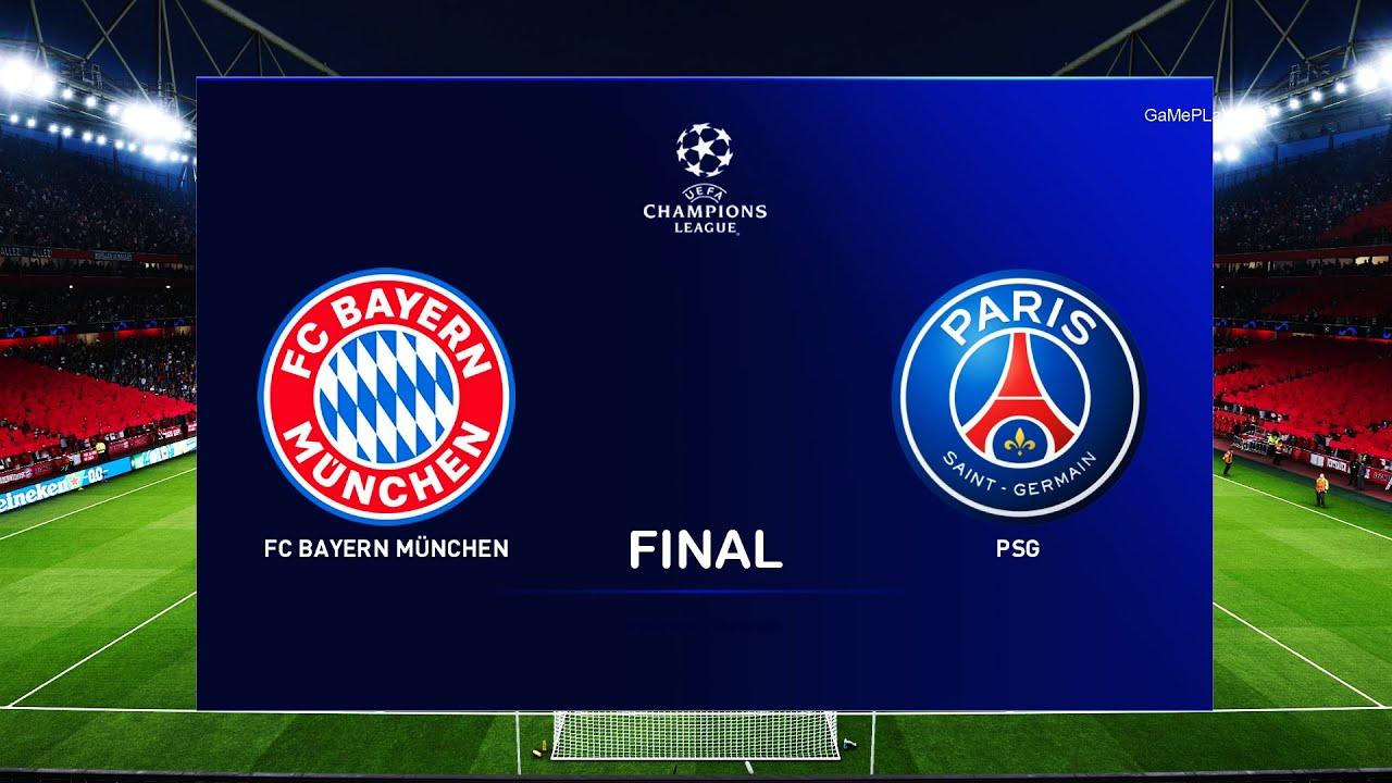 Pes 2020 Bayern Munich Vs Psg Uefa Champions League Final Ucl Gameplay 2020 2021 Season Youtube