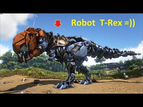 ARK: Survival Evolved (The Island) #5 - Khủng Long Bạo Chúa Robot T-Rex