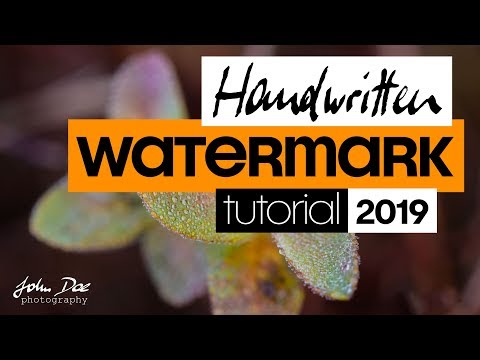 Signature Watermark Tutorial 2019 - Create One-click Vector Watermarks In Photoshop And Lightroom
