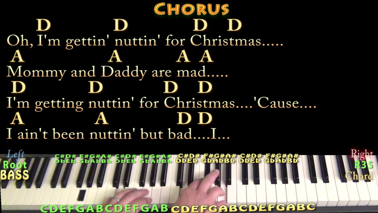 Nuttin\' For Christmas (Barry Gordon) Piano Cover Lesson in D with ...