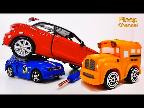 Thumbnail: NEW Bussy & Speedy AUDI A1 Construction - Bburago Toy Cars for Children.Stories for Kids