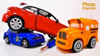 NEW Bussy & Speedy AUDI A1 Construction - Bburago Toy Cars for Children.Stories for Kids