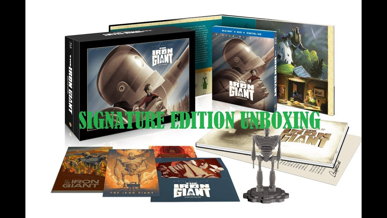 Download IRON GIANT SIGNATURE EDTION BLURAY UNBOXING (ESPAÑOL)