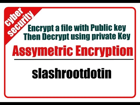 assymetric encryption lab using public and private key