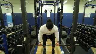 Repeat youtube video Linebacker Benches 225 lbs 39 Times!Jordan Campbell NFL Draft '13