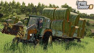 Ładowanie Belek Siana Ursusem   Wakacyjni Rolnicy ⭐️ Farming Simulator 19