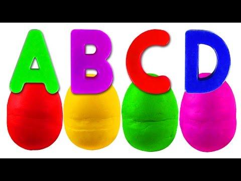 Play Doh Alphabet Surprise | ABC Songs for Children, Kindergarten Kids Learn Colors, Toys