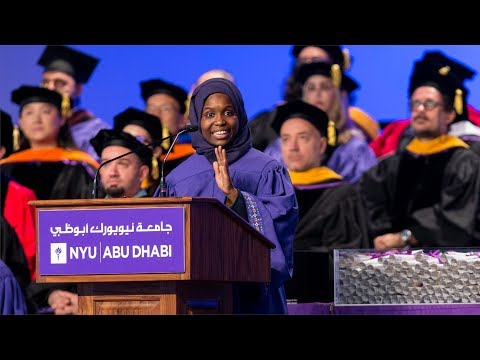 2017 Commencement Student Speaker Nafisatou Mounkaila