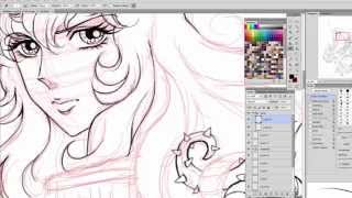 Speed Drawing Lady Oscar / Rose Of Versailles / Versailles no Bara - Lineart