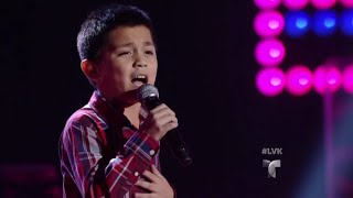 Joel Treviño canta 'No Me Dolió | Audiciones | La Voz Kids 2016