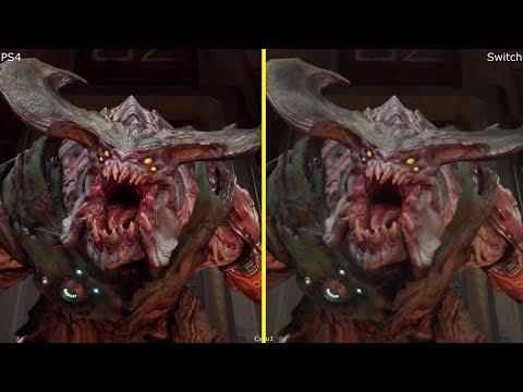 Doom Nintendo Switch vs PS4 Graphics Comparison
