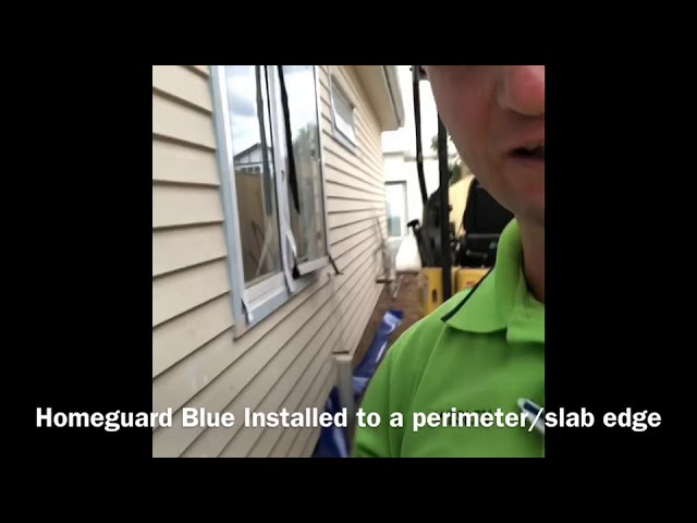 How to Installed Homeguard blue to a perimeter edge.