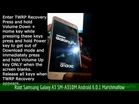 Root Samsung Galaxy A3 SM-A310M Android 6.0.1 Marshmallow