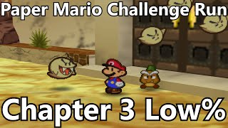 Paper Mario Challenge Speedrun: Chapter 3 [Level 1, Partnerless, Action Commandless]