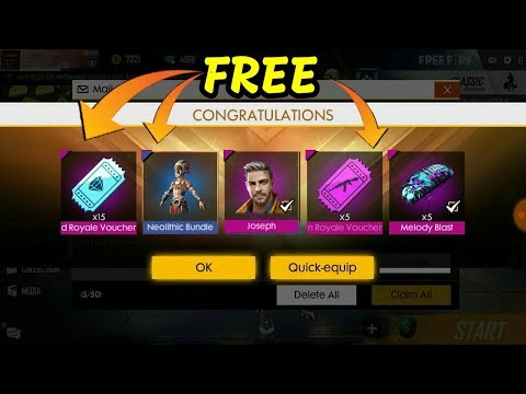 Top Up 1 Diamond And Get Free Joseph Character And Neolithic Bundle Garena Free Fire