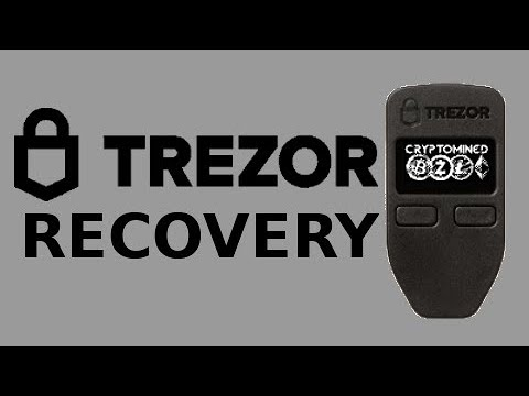 How To Recover Trezor Wallet Using Seed Recovery Bitcoin Litecoin Ethereum ZCash Dash