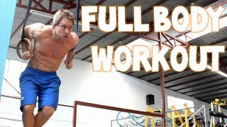 Full Body Insane Workout in Costa Rica - Deadlifts, Bench, Ring Dips and More | Furious Pete