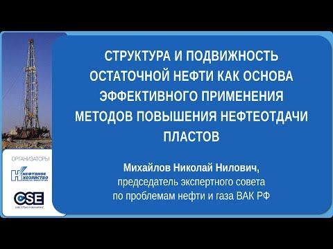 Михайлов Н. Н. Структура и подвижность остаточной нефти как основа эффективного применения ПНП