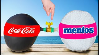 experiment: the Balloon of Coca Cola VS the Balloon of Mentos
