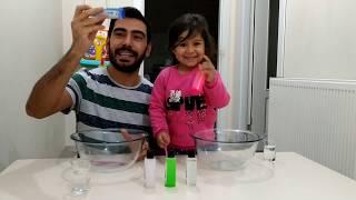Ayşe Ebrar ile Slime Yapma Challenge Yaptık. Eğlenceli Çocuk Videosu