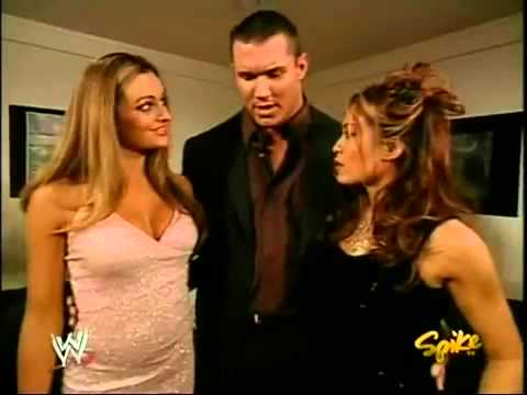 Maria, Melina & Randy Orton Backstage RAW November 29, 2004