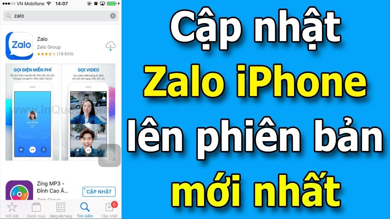 Hướng dẫn cập nhật Zalo iPhone lên phiên bản mới nhất