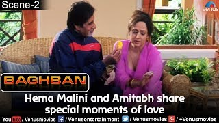 Hema Malini and Amitabh share special moments of love (Baghban)
