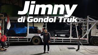 KEPULANGAN JIMNY CHALLENGE: KETIGA JIMNY NAIK CAR CARRIER