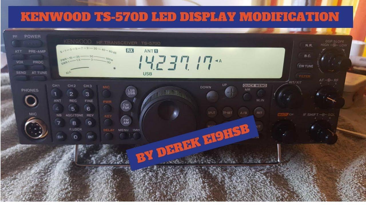 KENWOOD TS570D LED LIGHTING MOD BY DEREK EI9HSB