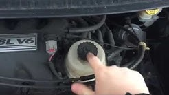 Changing the Power Steering Reservoir on a Chrysler or Dodge vehicle with the 3.3/3.8L engine