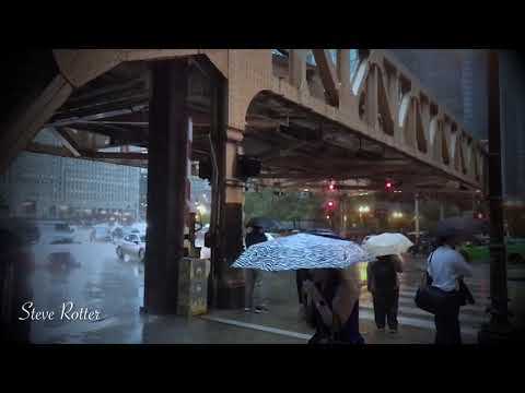 Chicago rain storm : relaxing thunderstorm and rain