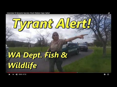 Tyrant Alert - Sgt Taylor of Washington Department of Fish and Wildlife Law Enforcement.