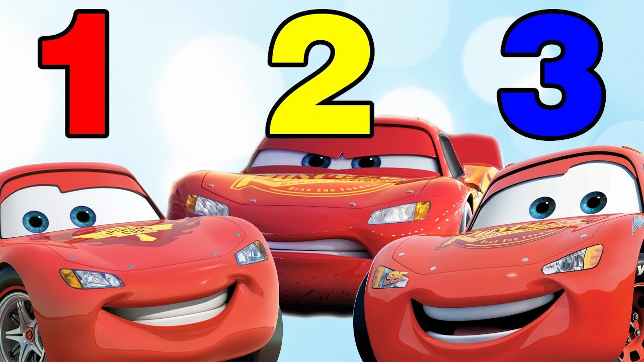 Learn Counting Cars 3 Lightning Mcqueen Count To 10 Jackson Storm Youtube